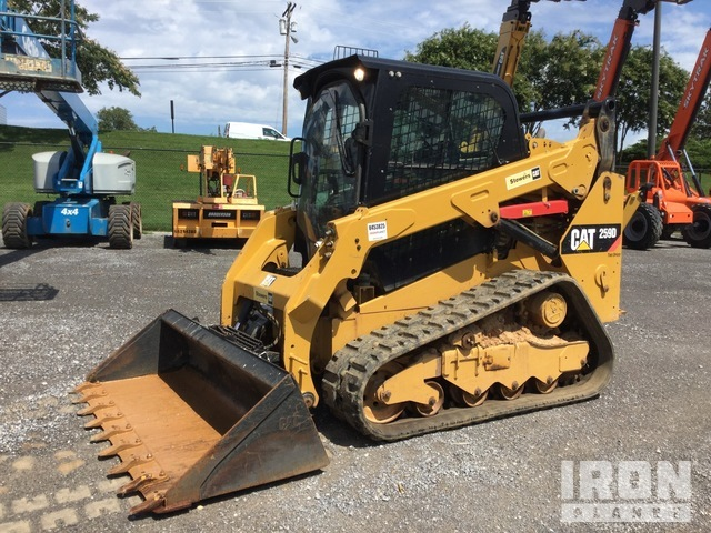 2015 Cat 259D Two-Speed Compact Track Loader w/2018 Econoline T/A Trailer, Compact Track Loader