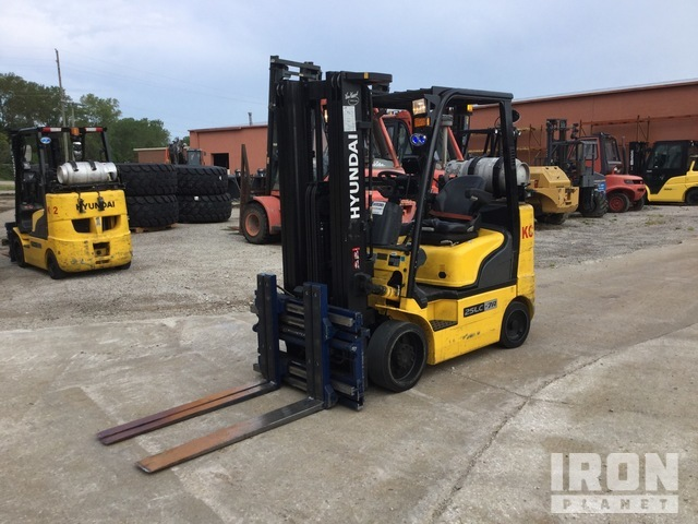 2017 (unverified) Hyundai 25LC-7A 4740 lb Cushion Tire Forklift, Forklift