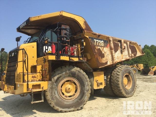 2014 Cat 772G Off-Road End Dump Truck, Rock Truck