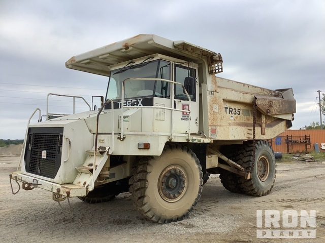 Terex TR35 Off-Road End Dump Truck, Rock Truck