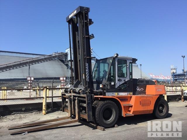 2018 (unverified) Doosan D140S-7 Pneumatic Tire Forklift, Forklift