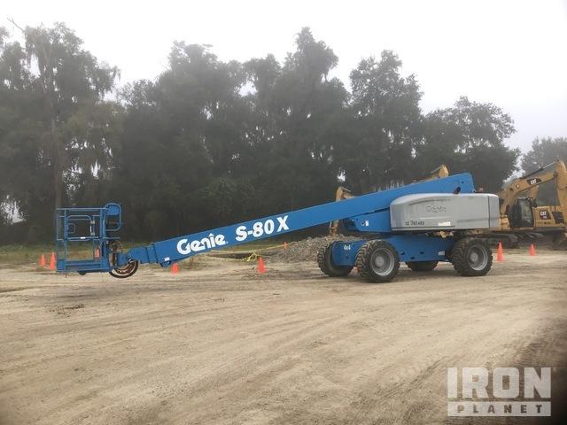2016 (unverified) Genie S-80X 4WD Diesel Telescopic Boom Lift, Boom Lift