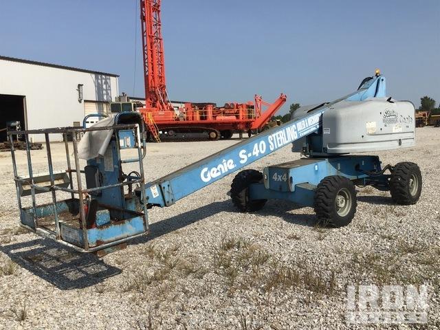 2001 Genie S-40 4WD Diesel Telescopic Boom Lift, Boom Lift