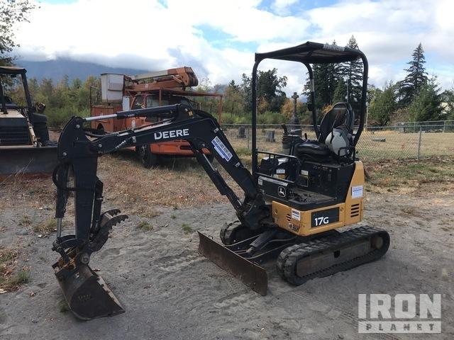 2015 John Deere 17G Mini Excavator, Mini Excavator (1 - 4.9 Tons)