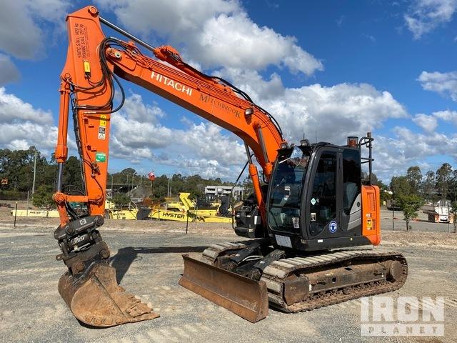 2017 Hitachi ZX135US-5B Track Excavator, Hydraulic Excavator