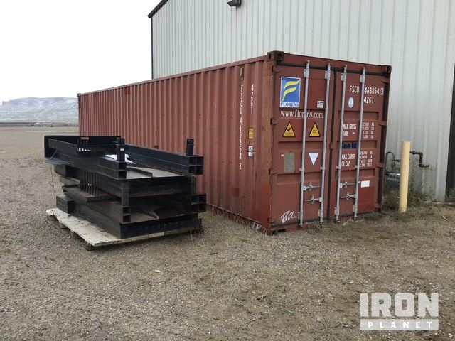 Conex Trailer W/All CT Related Contents & Lot Of Utility Bed Racks, Container