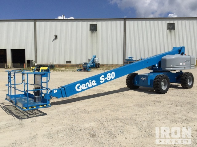 2007 Genie S-80 4WD Diesel Telescopic Boom Lift - Factory Reconditioned, Boom Lift