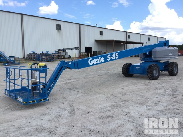 2007 Genie S-85 4WD Diesel Telescopic Boom Lift - Factory Reconditioned, Boom Lift