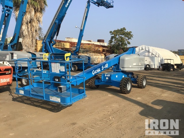 2007 Genie S-40 4WD Diesel Telescopic Boom Lift - Factory Reconditioned, Boom Lift