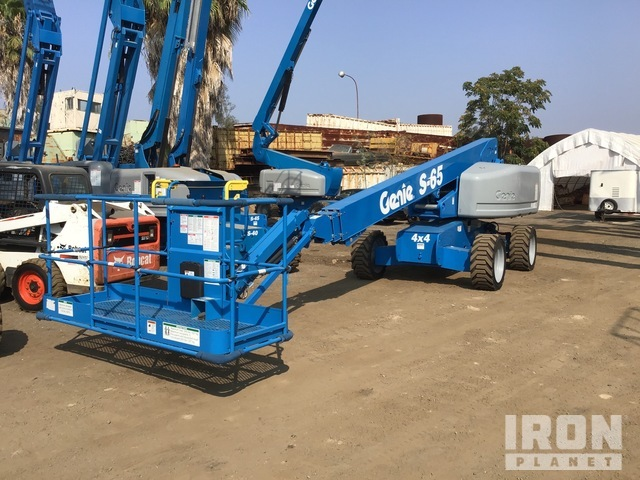 2007 Genie S-65 4WD Diesel Telescopic Boom Lift - Factory Reconditioned, Boom Lift