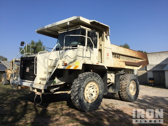 2001 Terex TR40 Off-Road End Dump Truck, Rock Truck