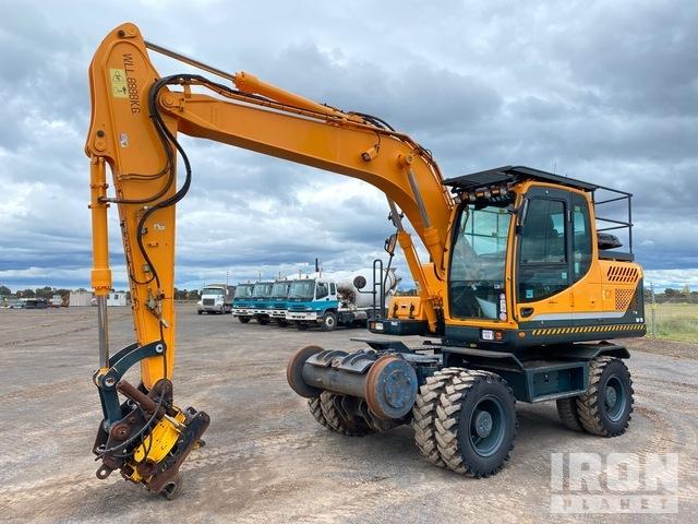 2016 Hyundai Robex 140W-9 Hi-Rail Wheel Excavator, Mobile Excavator
