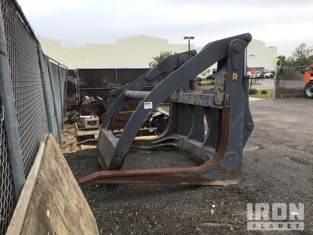 Rockland MLW DL550-3 Wheel Loader Log Grapple - Fits Doosan 520/550, Wheel Loader Grapple