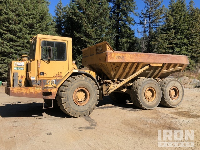 Cat D350D 6x6 Articulated Dump Truck, Articulated Dump Truck