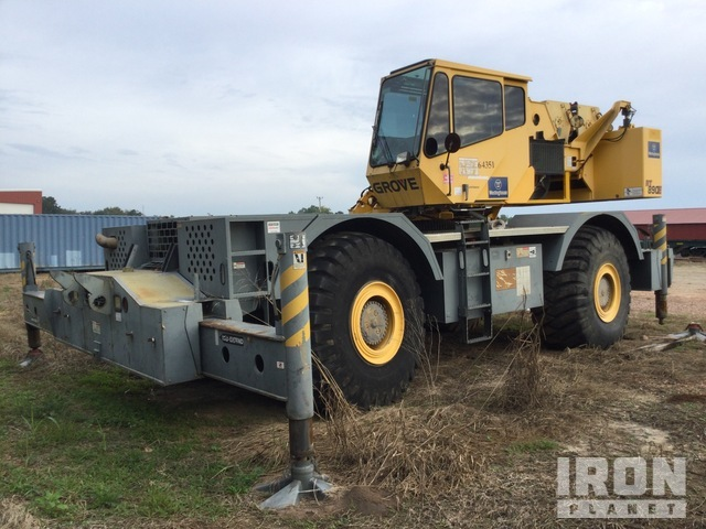 2009 Grove RT890E 90 ton 4x4x4 Rough Terrain Crane, Parts/Stationary Construction-Other