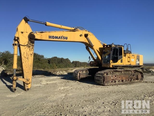 2014 (unverified) Komatsu PC650LC-8E0 Track Excavator, Hydraulic Excavator