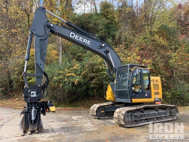 2018 John Deere 245G LC Log Loader w/ Rotobec Grapple Saw, Log Loader