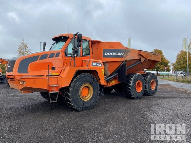 2012 Doosan DA40 6x6 Articulated Dump Truck, Articulated Dump Truck