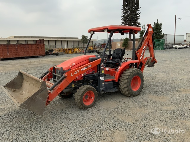 Kubota L47 4x4 Backhoe Loader, Loader Backhoe