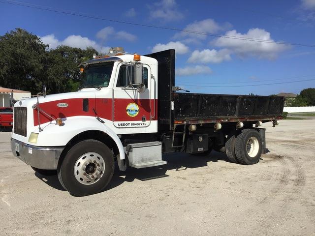 1997 Peterbilt 330 4x2 S/A Flatbed Dump Truck