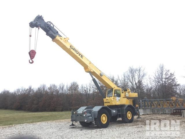 1980 Grove RT625 25 ton 4x4 4x4x4 Rough Terrain Crane, Rough Terrain Crane