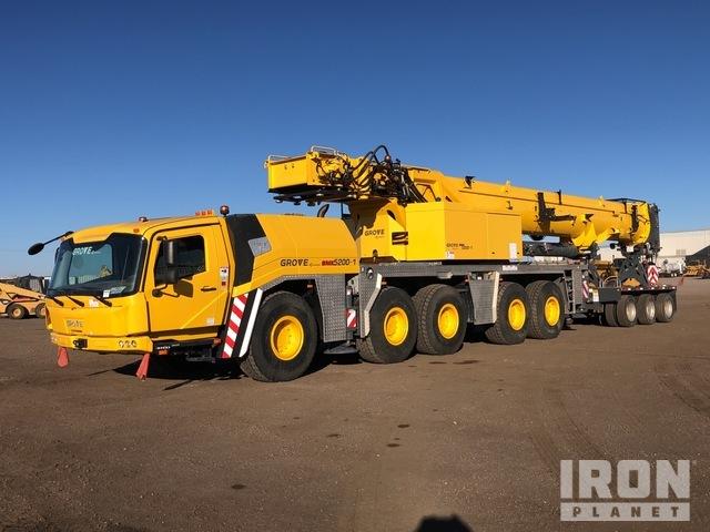 2018 Grove GMK5200 240 t All Terrain Crane, All Terrain Crane