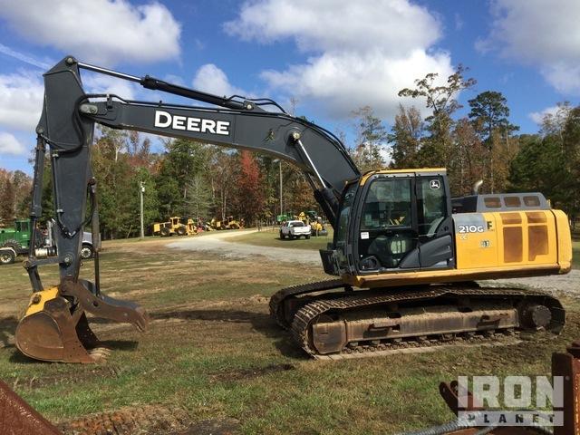 John Deere 210G LC Track Excavator, Hydraulic Excavator