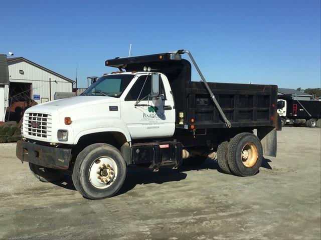1999 GMC C7500 4x2 S/A Dump Truck