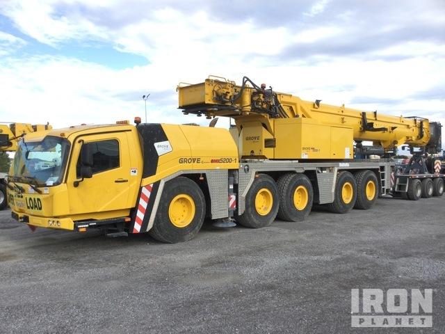 2018 Grove GMK5200-1 140 t 10X6 All Terrain Crane, All Terrain Crane