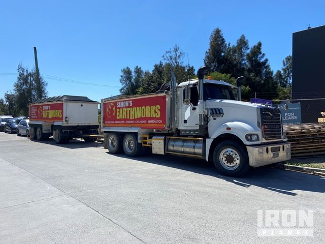 2013 Mack CMHR Trident 6x4 Tipper Truck & Super Dog Combination, Dump Truck (T/A)