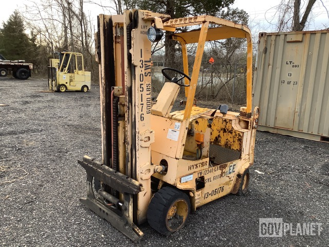 Hyster E60XL Electric Forklift, Electric Forklift