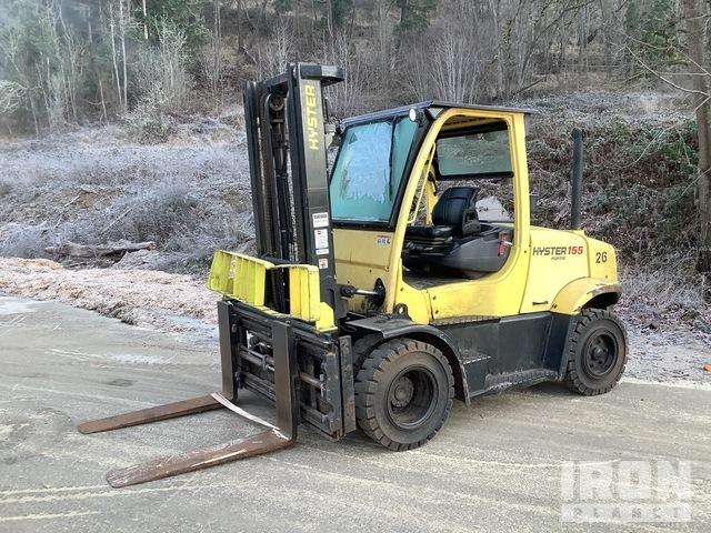 Hyster H155FT 13600 lb Pneumatic Tire Forklift, Forklift