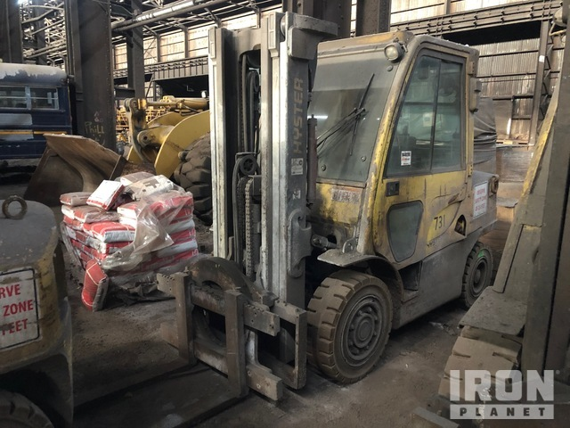 2007 Hyster H80FT 5900 lb Pneumatic Tire Forklift, Parts/Stationary Construction-Other