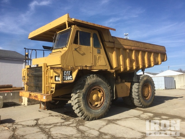 1989 Cat 769C Off-Road End Dump Truck, Rock Truck