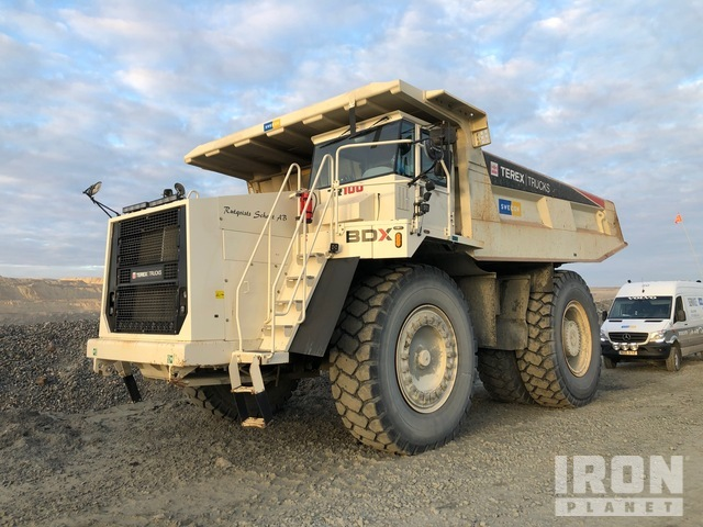 2017 Terex TR100 Off-Road End Dump Truck, Rock Truck