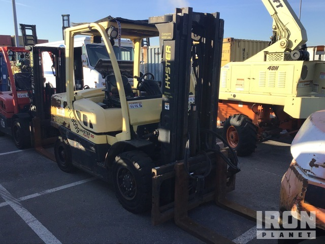 2011 (unverified) Hyster H90FT 9000 lb Pneumatic Tire Forklift, Parts/Stationary Construction-Other