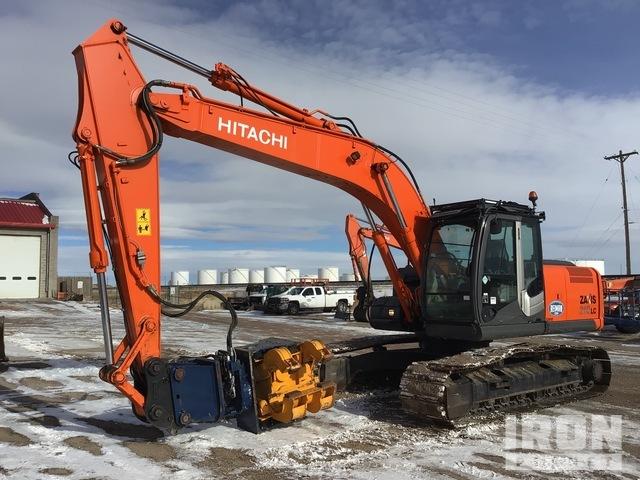2012 Hitachi ZX210LC-3 Track Excavator w/ Pile Hammer/Extractor, Hydraulic Excavator