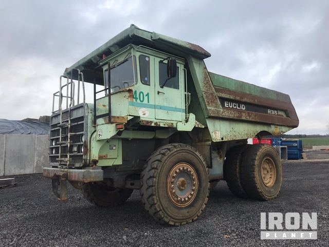 1995 Euclid R35 Off-Road End Dump Truck, Rock Truck