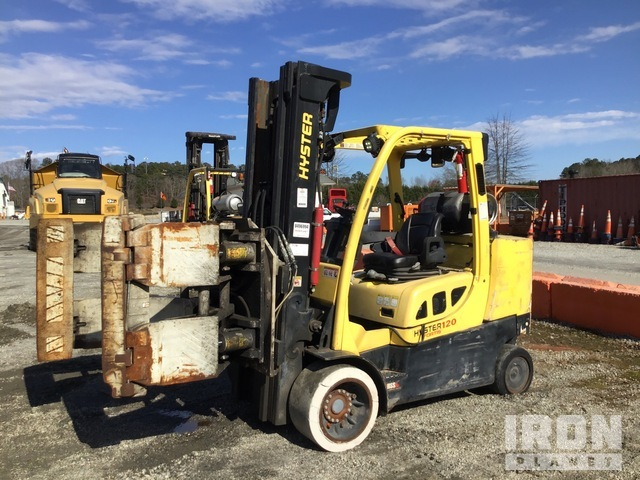 2014 (unverified) Hyster S120FTPRS 9000 lb. Pneumatic Tire Forklift, Forklift