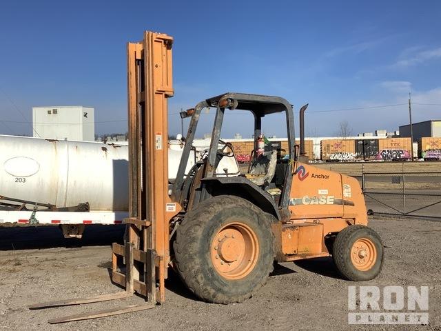 Case 580G 5000 lb 4x2 Rough Terrain Forklift, Rough Terrain Forklift