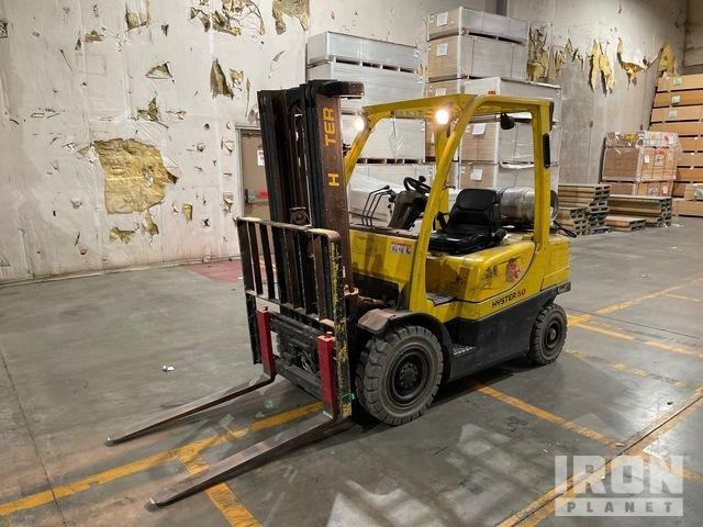 2008 Hyster H50FT 4800 lb Pneumatic Tire Forklift, Forklift