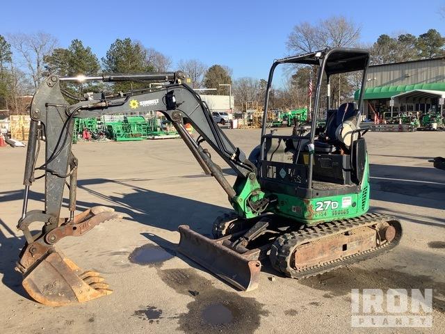 2013 John Deere 27D Mini Excavator, Mini Excavator (1 - 4.9 Tons)