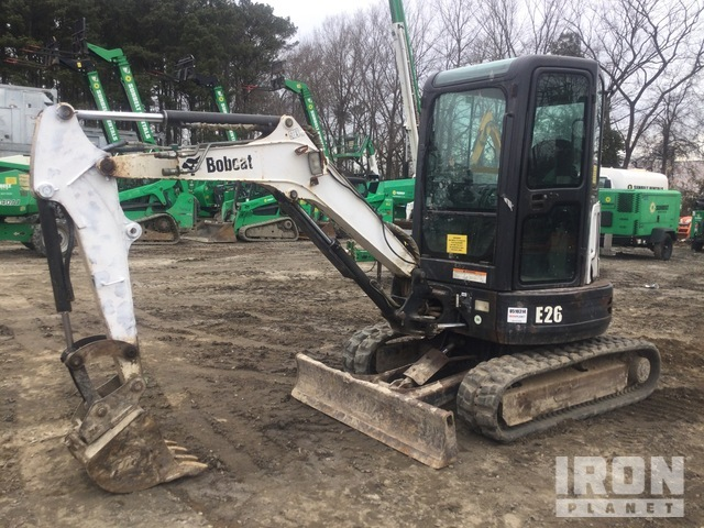 2013 Bobcat E26 E M Mini Excavator, Mini Excavator (1 - 4.9 Tons)