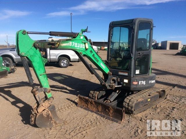 2014 Bobcat E26GM Mini Excavator, Mini Excavator (1 - 4.9 Tons)
