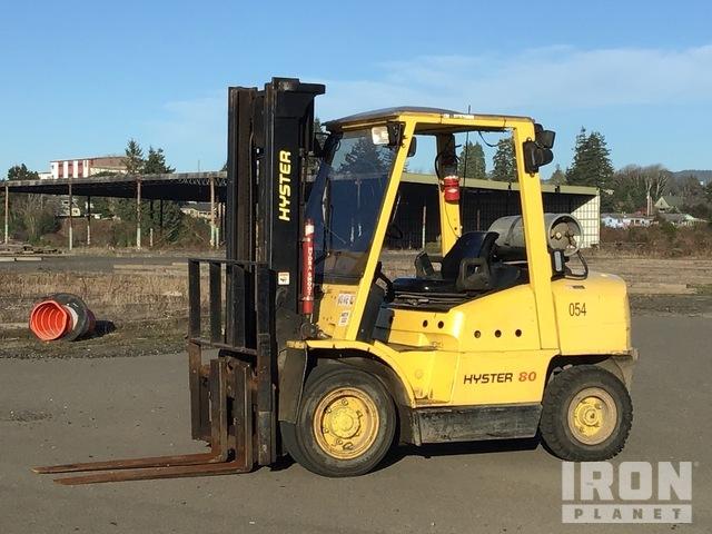Hyster H80XM 7700 lb Pneumatic Tire Forklift, Forklift