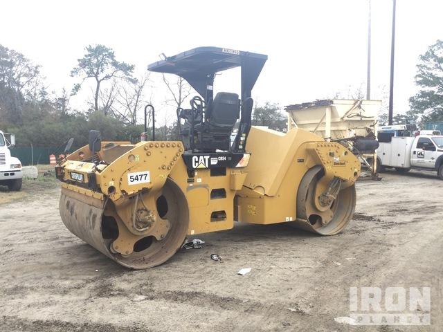 2016 (unverified) Cat CB54 XW Vibratory Double Drum Roller, Roller