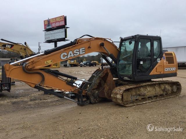 2019 Case CX130D Track Excavator, Hydraulic Excavator