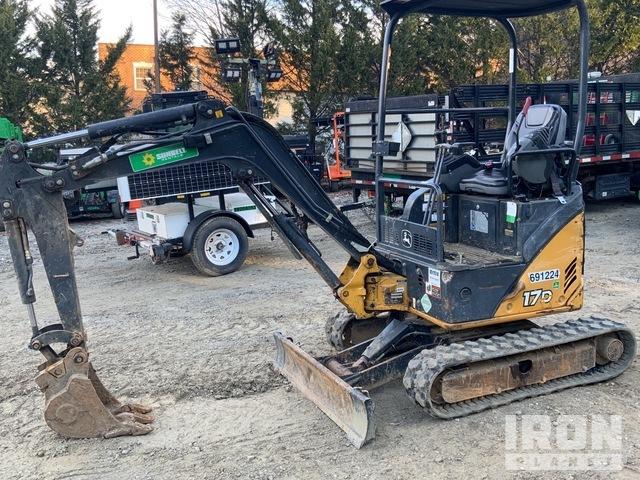 2015 John Deere 17D Mini Excavator, Mini Excavator (1 - 4.9 Tons)
