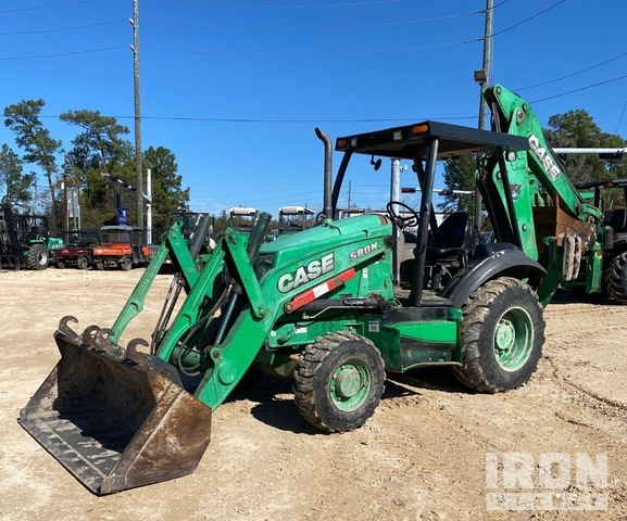 2014 Case 580N 4x4 Backhoe Loader, Loader Backhoe