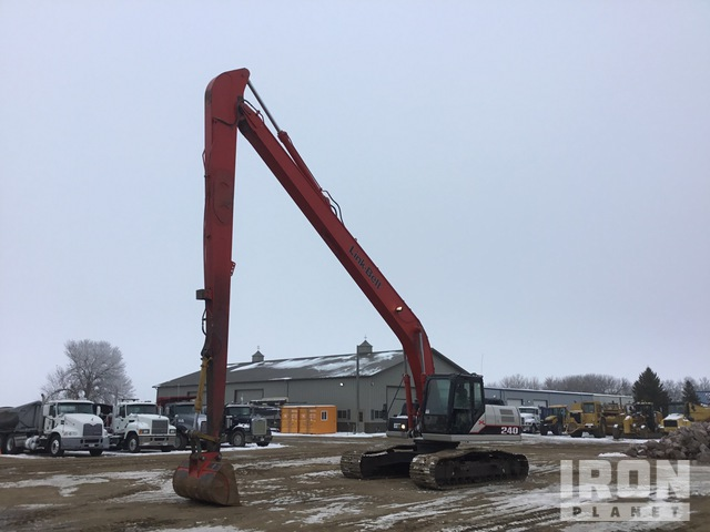 2007 Link-Belt 240X2 Long Reach Excavator, Hydraulic Excavator